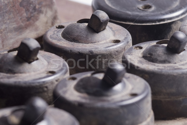 старые группа электроэнергии пластиковых грязные Сток-фото © imagedb