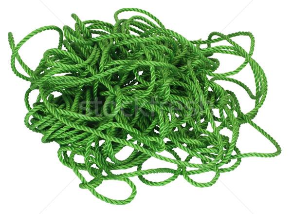 Plastikowe liny streszczenie ciąg białe tło Zdjęcia stock © imagedb
