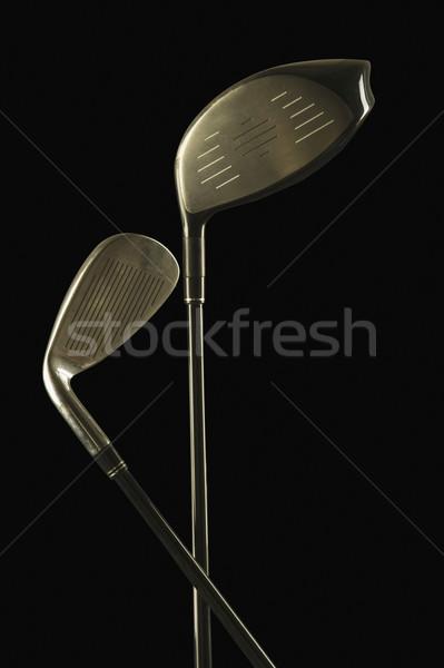 Közelkép kettő golfütők golf fém játék Stock fotó © imagedb