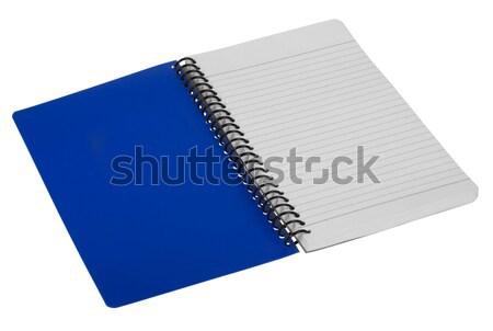 Primer plano espiral cuaderno educación planificación aislado Foto stock © imagedb