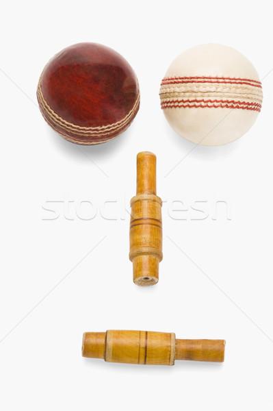 Cricket menselijke gezicht hout Rood Stockfoto © imagedb
