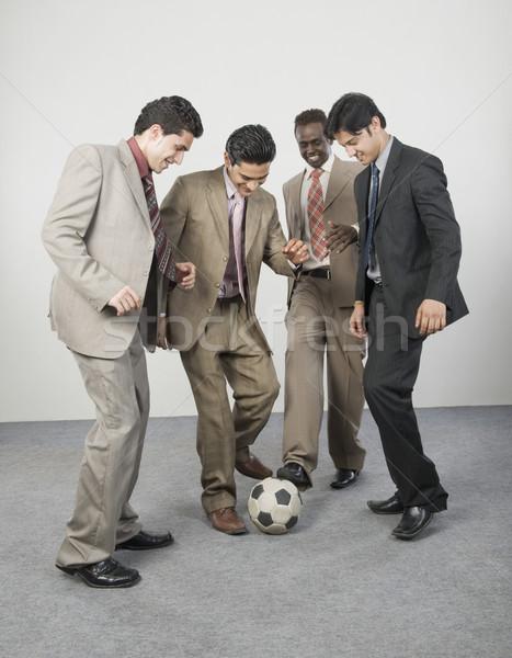 4 ビジネスマン 演奏 サッカーボール ビジネス ビジネスマン ストックフォト © imagedb