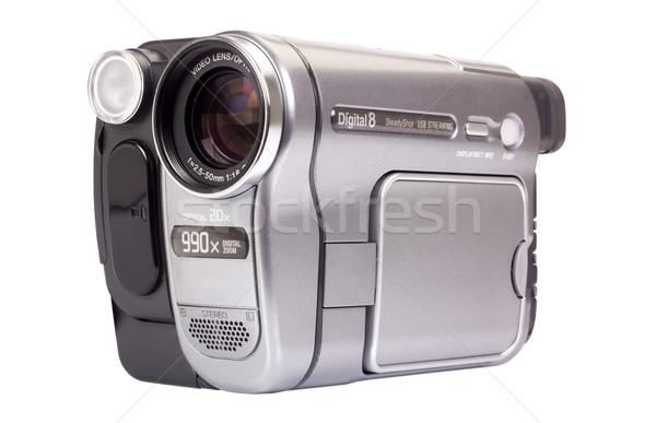 Primer plano casa cámara de vídeo moderna número texto Foto stock © imagedb
