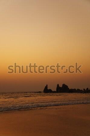 Strand Dämmerung Goa Indien Himmel Sonnenuntergang Stock foto © imagedb