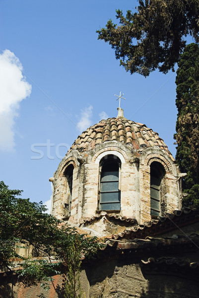 Görmek kilise Atina Yunanistan gökyüzü Stok fotoğraf © imagedb