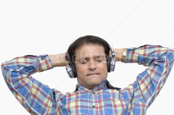 человека наушники музыку технологий весело Сток-фото © imagedb