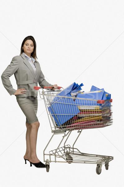 деловая женщина Постоянный Корзина бизнеса женщину группа Сток-фото © imagedb