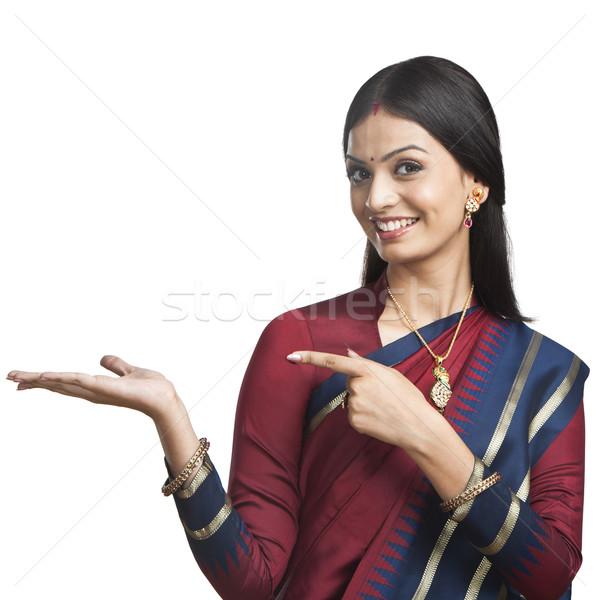 伝統的に インド 女性 通信 小さな ストックフォト © imagedb