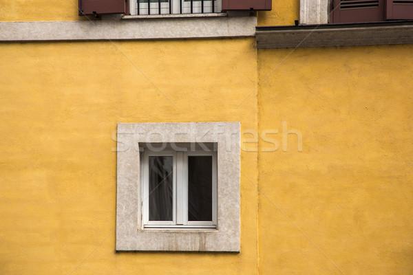 Window on the wall of building Stock photo © imagedb