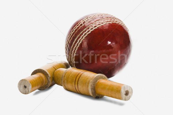 Kriket top kırmızı yeni fotoğrafçılık Stok fotoğraf © imagedb