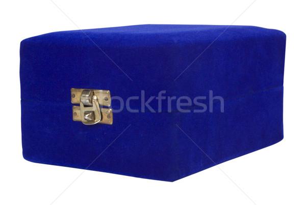Közelkép ékszerek doboz biztonság kék védelem Stock fotó © imagedb