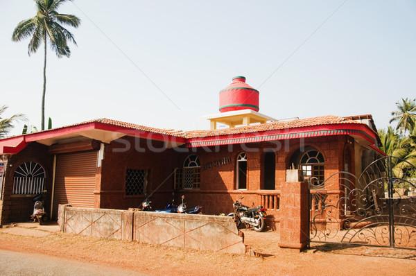 Homlokzat ház Goa India fal építészet Stock fotó © imagedb