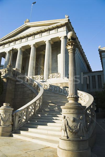 Homlokzat oktatási épület Athén akadémia Görögország Stock fotó © imagedb