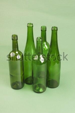 Közelkép üres üvegek buli ital üveg Stock fotó © imagedb