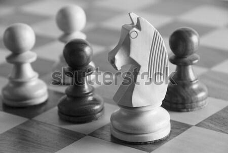 Beyaz satranç iki siyah satranç tahtası Stok fotoğraf © imagedb
