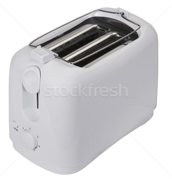 тостер электрических пластиковых фотографии белом фоне Сток-фото © imagedb