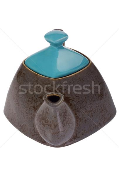 чай чайник дизайна белом фоне крупным планом Сток-фото © imagedb