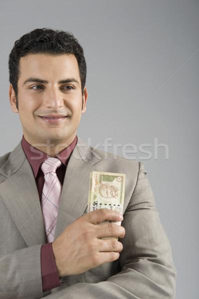 Empresário indiano cinco cem sucesso Foto stock © imagedb