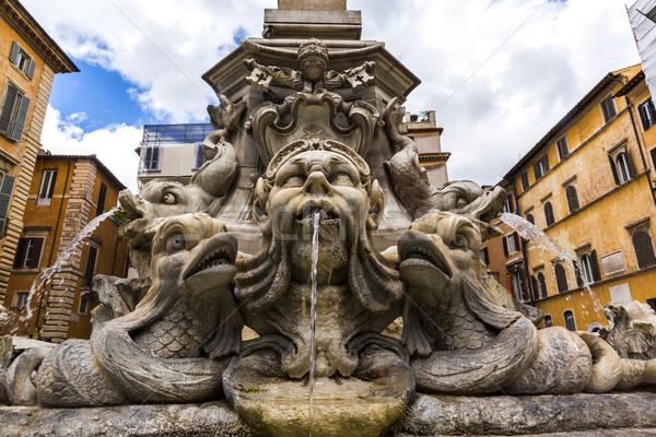 Fountain in Piazza della Rotonda Stock photo © imagedb
