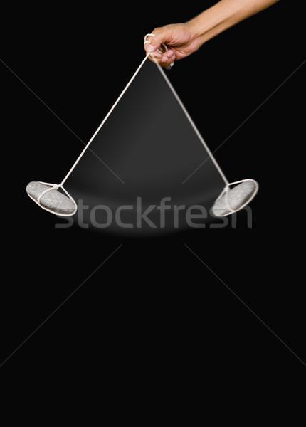Pessoas mão pedra pêndulo educação Foto stock © imagedb