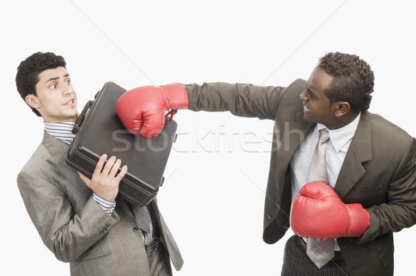 ビジネスマン ビジネス スポーツ 怒り 暴力 ブリーフケース ストックフォト © imagedb