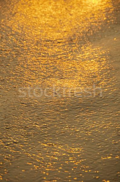 Napfény víztükör Goa India víz narancs Stock fotó © imagedb