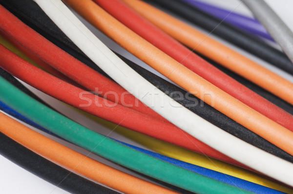 Közelkép számítógép drótok üzlet iroda épület Stock fotó © imagedb