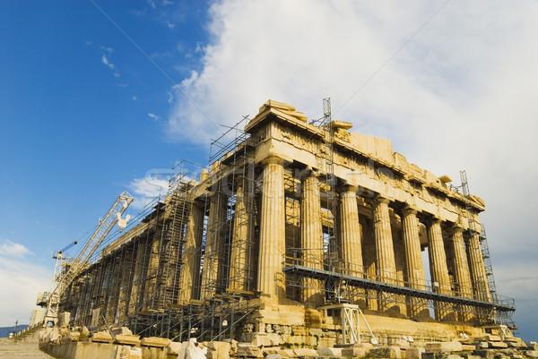 Antigo templo Partenon Acrópole Atenas Foto stock © imagedb