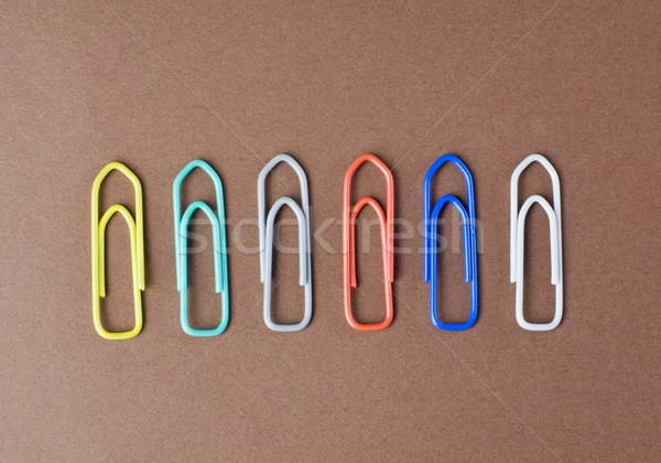 Papier affaires métal groupe objets Photo stock © imagedb