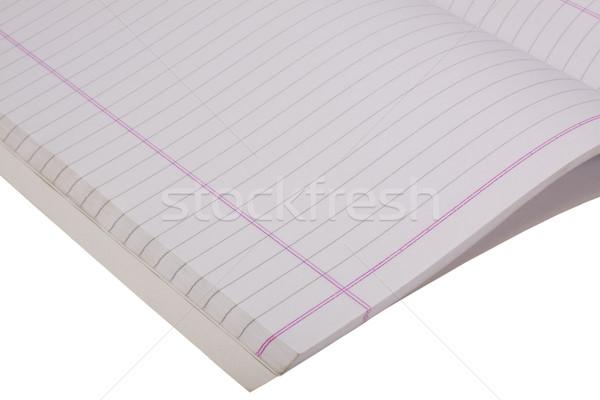 открытых ноутбук бумаги образование блокнот Сток-фото © imagedb