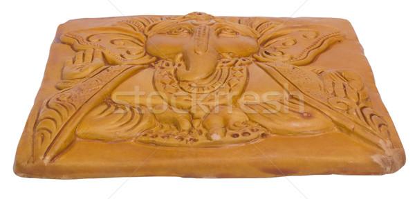 Gegraveerd houten hout steen god godsdienst Stockfoto © imagedb