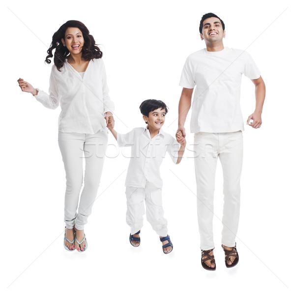 Portre mutlu ebeveyn oğul aile çocuk Stok fotoğraf © imagedb