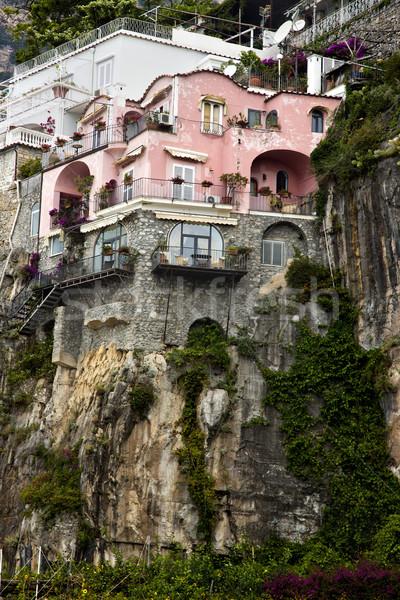 Maisons colline côte montagne architecture Europe Photo stock © imagedb