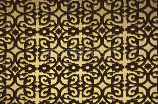 Detail Teppich Design Muster Hintergrund horizontal Stock foto © imagedb