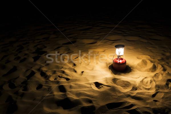 Linterna duna India naturaleza arena noche Foto stock © imagedb
