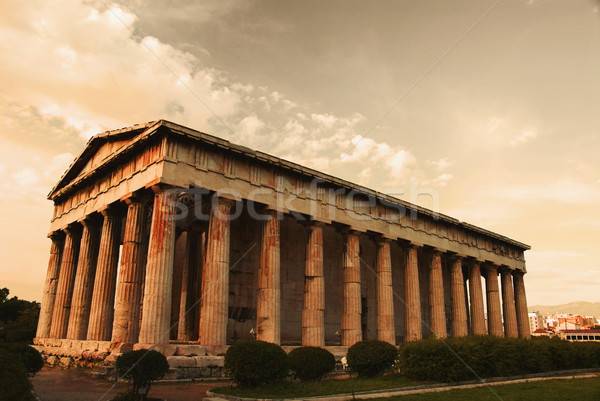 Antigua templo Partenón Acrópolis Atenas Grecia Foto stock © imagedb
