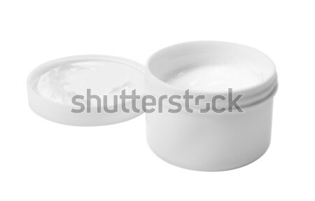 Primo piano jar bianco contenitore open Foto d'archivio © imagedb