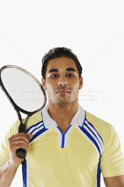 человека Теннисная ракетка спорт портрет играет Сток-фото © imagedb