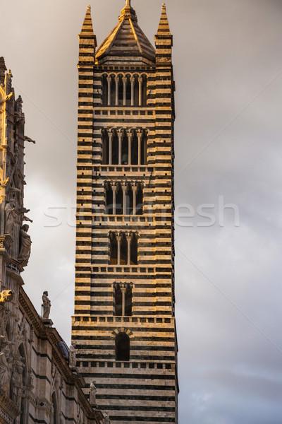 Alulról fotózva kilátás harang torony katedrális Toszkána Stock fotó © imagedb
