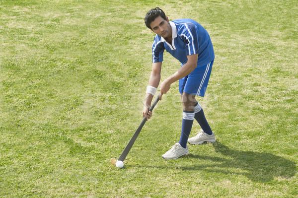 Alan çim adam spor top Stok fotoğraf © imagedb