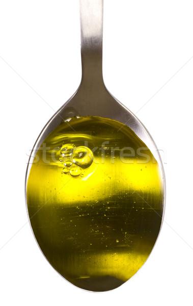 Közelkép étolaj citromsárga fotózás olívaolaj fehér háttér Stock fotó © imagedb