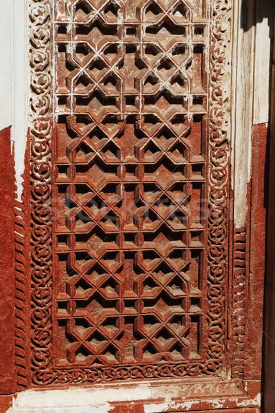 細部 ウィンドウ ニューデリー インド 歴史 写真 ストックフォト © imagedb