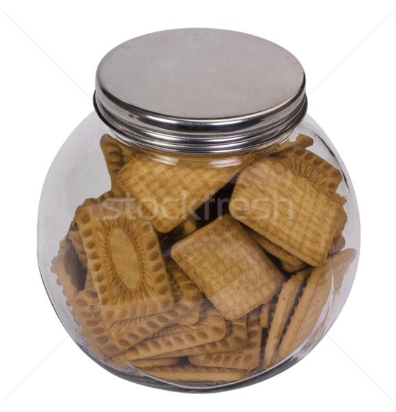 банку полный Печенье стекла Cookie Сток-фото © imagedb