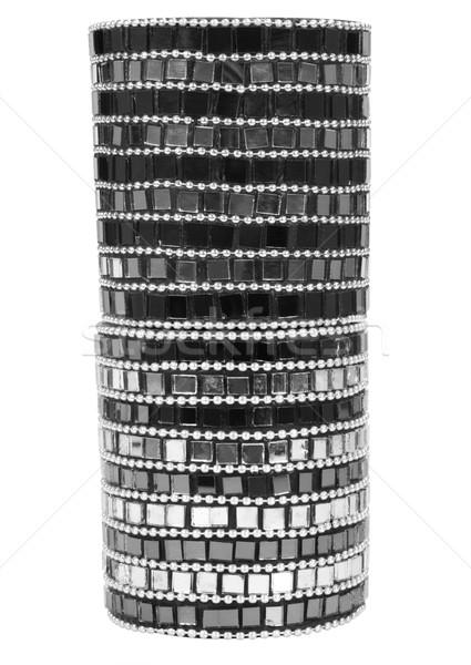 Közelkép váza fekete minta modern konténer Stock fotó © imagedb