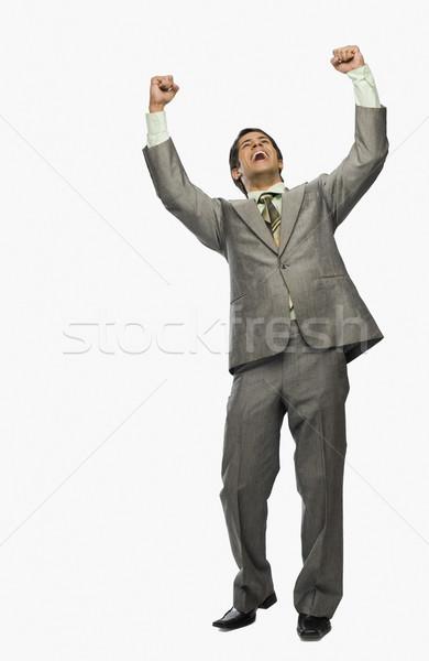 Empresário sorrir homem sucesso indiano alegria Foto stock © imagedb