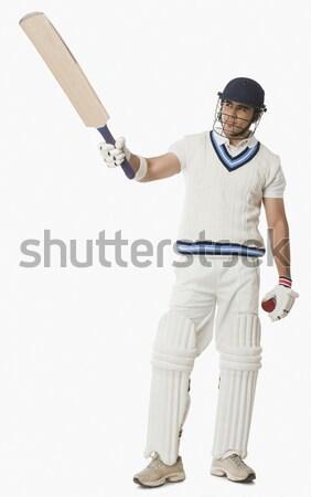 Cricket spelen man sport veiligheid permanente Stockfoto © imagedb