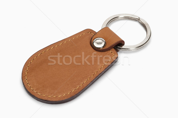 Közelkép kulcstartó fém bőr gyűrű fotózás Stock fotó © imagedb