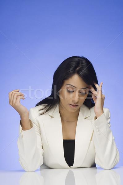 Stock fotó: Csalódott · üzletasszony · nő · szépség · vállalati · fiatal