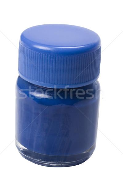 Сток-фото: синий · акварель · бутылку · краской · искусства