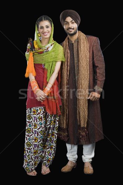 Ritratto sikh Coppia sorridere felicità fotografia Foto d'archivio © imagedb